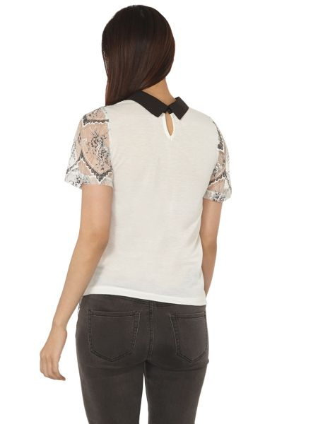 Dorothy Perkins Jersey with Ivory Collar Top