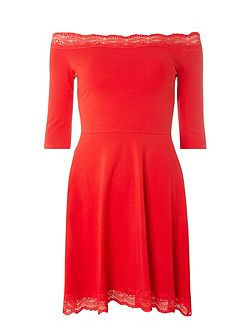Lace Bardot Dress