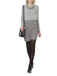 Dorothy Perkins Zig Zag Mini Skirt