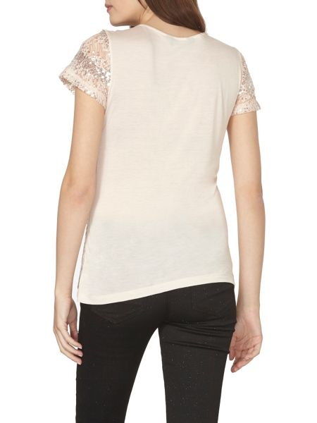 Dorothy Perkins Sequin Lace T-Shirt