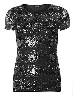 Tall Sequin Lace T-Shirt