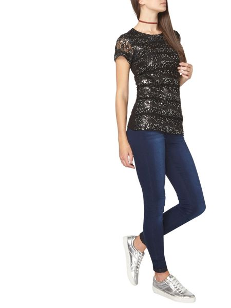 Dorothy Perkins Tall Sequin Lace T-Shirt