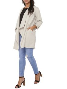 Dorothy Perkins Longline Drawstring Throw On Jacket