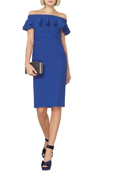 Dorothy Perkins Ruffle Front Bardot Pencil Dress