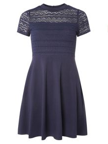 Dorothy Perkins Lace Jersey Dress