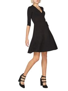 Dorothy Perkins Wrap Front Fit and Flare Dress