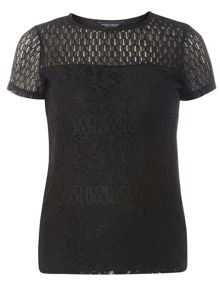 Dorothy Perkins Panel Lace T-Shirt