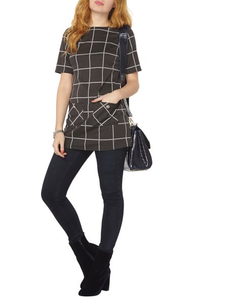 Dorothy Perkins Check Tunic Top