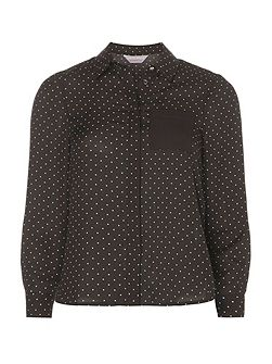 Petite Spot Long Sleeve Shirt