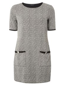 Dorothy Perkins Salt and Pepper Bow Tunic