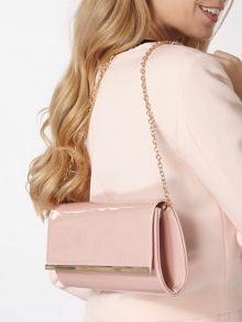 Dorothy Perkins Patent Structured Clutch