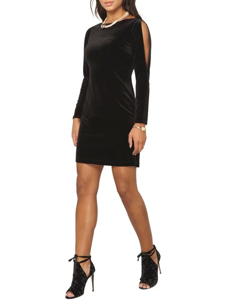 Dorothy Perkins Velvet Split Sleeve Shift Dress