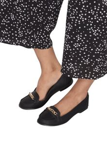 Dorothy Perkins Wide Fit Black `Lipstick` Loafer