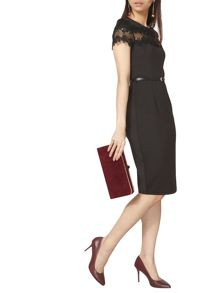 Dorothy Perkins Scuba and Lace Pencil Dress