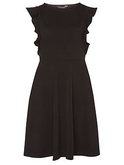 Ruffle Front Fit and Flare Dress