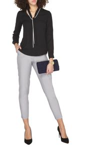 Dorothy Perkins Tall Silver Ankle Grazer Trousers
