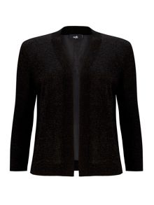 Wallis Black Metallic Chiffon Shrug