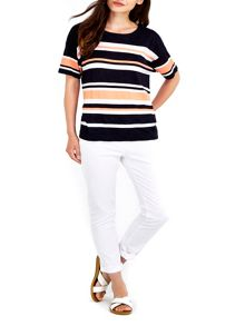 Wallis Multi Stripe Boxy Knitted Top