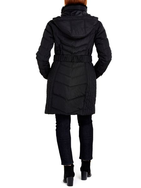 Wallis Black Midi Buckle Coat