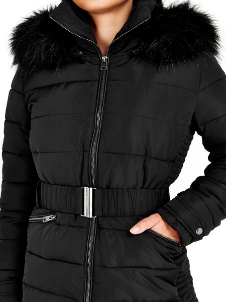 Wallis Black Short Padded Coat