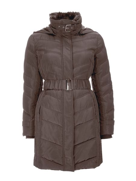 Wallis Mink Midi Buckle Coat