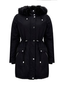 Wallis Black Parka Jacket