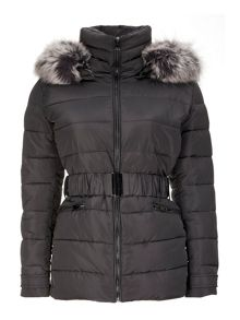 Wallis Grey Short Padded Coat