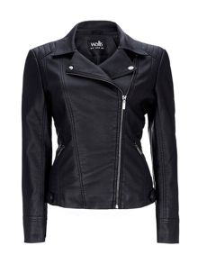 Wallis Black Asymmetric Biker Jacket