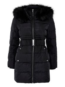 Wallis Petite Black Padded Coat
