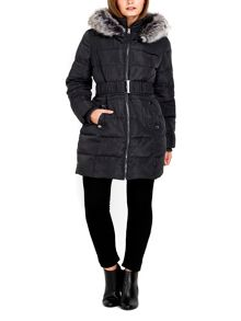Wallis Petite Grey Padded Coat