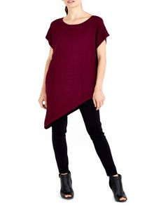 Wallis Berry Asymmetric Tunic Jumper