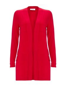 Wallis Petite Red Longline Cardigan