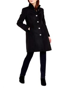 Wallis Black Funnel Coat