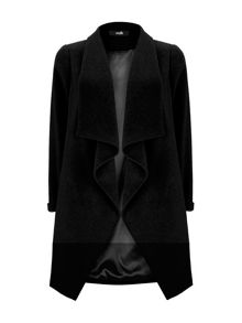Wallis Black Waterfall Coat