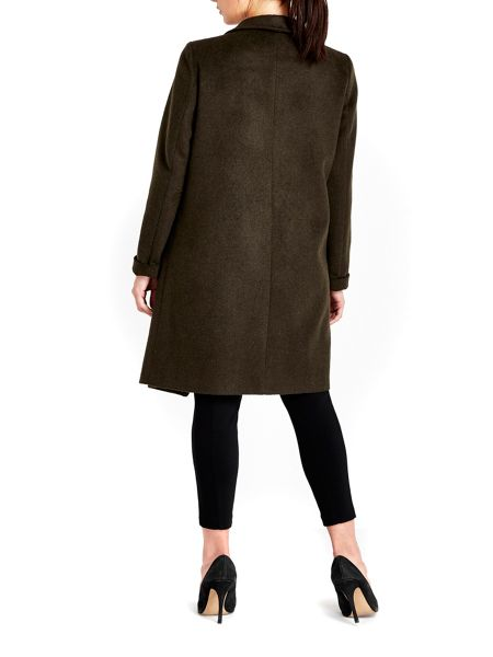 Wallis Khaki Waterfall Coat