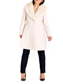 Wallis Nude Fur Collar Coat