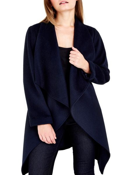 Wallis Petite Ink Waterfall Coat