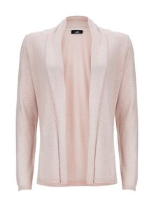 Wallis Pale Pink Metallic Shawl Cardigan