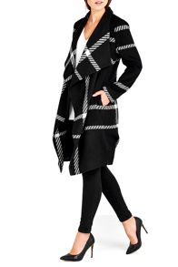 Wallis Check Waterfall Coat