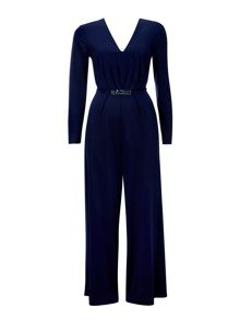 Wallis Navy Embellished Jumpsuit
