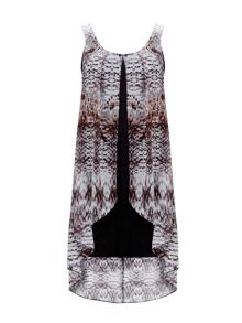 Wallis Petite Animal Overlay Dress