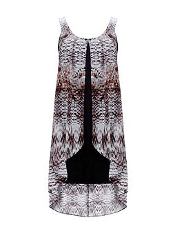 Petite Animal Overlay Dress