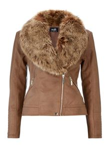 Wallis Tan Fur Jacket