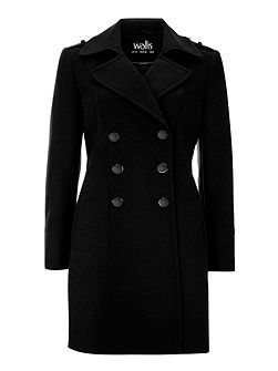 Military Faux Wool Coat