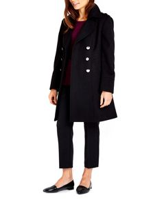 Wallis Military Faux Wool Coat