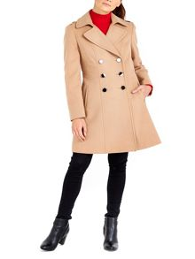 Wallis Camel Military Faux Wool Coat