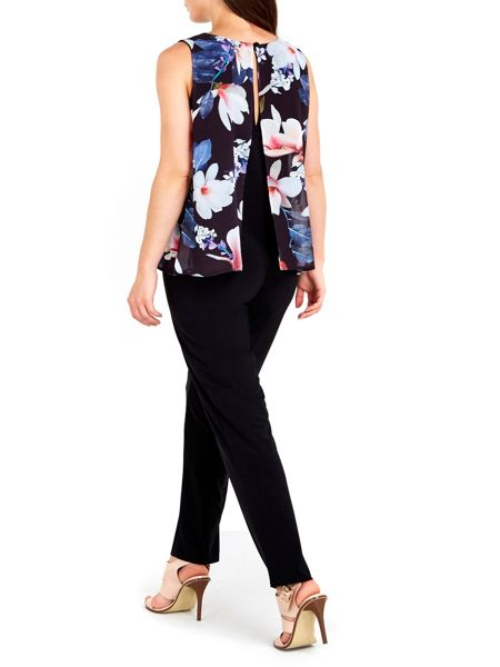 Wallis Printed Floral Overlayer Jumpsuit