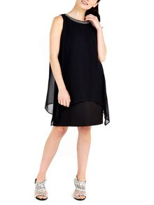 Wallis Black Embellished Neck 2in1