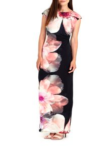 Wallis Pink Floral Printed Maxi Dress