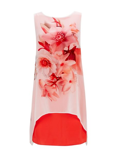 Wallis Floral Printed Overlay Dress